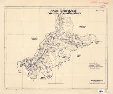 Powiat tarnobrzeski : mapa administracyjna i komunikacyjna : 1:100 000