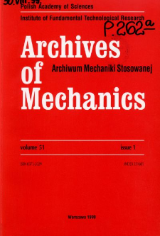 Archives of Mechanics Vol. 51 nr 1 (1999)