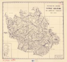 Województwo lubelskie : powiat Kraśnik : mapa administracyjna i komunikacyjna skala 1:100000
