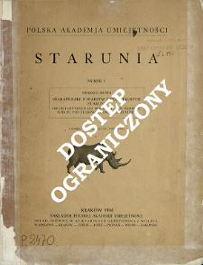 Szarańczaki z warstw dyluwjalnych Staruni = Die Orthopteren aus der diluvialen Nashornschicht von Starunia (polnische Karpathen)