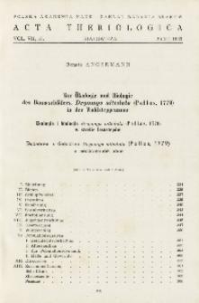 Zur Ökologie und Biologie des Baumschläfers, Dryomys nitedula (Pallas, 1779) in der Waldsteppenzone; Ekologia i biologia Dryomys nitedula (Pallas, 1779) w strefie lasostepów