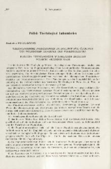 Theriologische Forschungen im Institut für Ökologie der Polnischen Akademie der Wissenschaften; Badania teriologiczne w Zakładzie Ekologii Polskiej Akademii Nauk