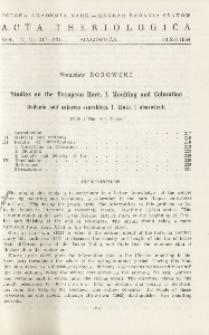 Studies on the European hare. I. Moulting and coloration; Badania nad zającem szarakiem. I. Linka i ubarwienie