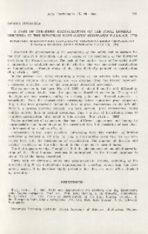 A case of one-sided sacralization of the final lumbar vertebra in the European hare (Lepus europaeus Pallas, 1778); Przypadek jednostronnej sakralizacji ostatniego kręgu lędźwiowego u zająca szaraka (Lepus europaeus Pallas, 1778)