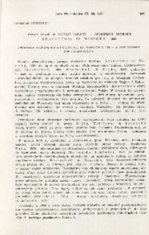 Nowy ssak w faunie Polski - Apodemus microps Kratochvil et Rosicky, 1952; Apodemus microps Kratochvil et Rosicky, 1952 - A new mammal for Polish fauna