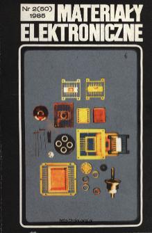 Spis treści 1985 nr 2(50)