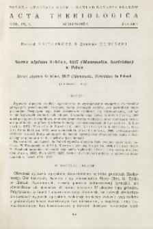 Sorex alpinus Schinz, 1837 (Mammalia, Soricidae) w Polsce; Sorex alpinus Schinz, 1837 (Mammalia, Soricidae) in Poland