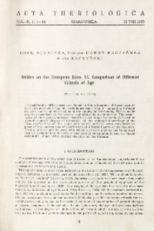 Studies on the European hare. VI. Comparison of different criteria of age