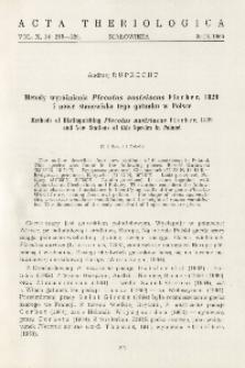 Metody wyróżniania Plecotus austriacus Fischer, 1829 i nowe stanowiska tego gatunku w Polsce; Methods of distinguishing Plecotus austriacus Fischer, 1829 and new stations of this species in Poland
