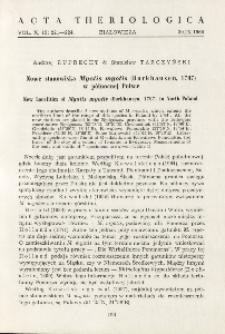 Nowe stanowiska Myotis myotis (Borkhausen, 1797) w północnej Polsce; New localities of Myotis myotis (Borkhausen, 1797) in North Poland