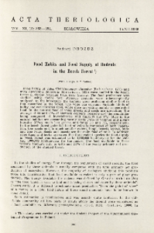 Food habits and food supply of rodents in the beech forest