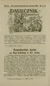 Gospodarstwo bartne na Rusi halickiej w XV. wieku