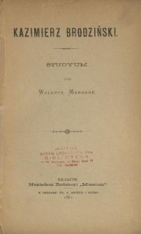 Kazimierz Brodziński : studyum
