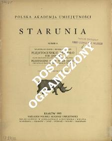 Plejstoceńskie jezioro pod Jasłem : (Faunę mięczaków opracował Jarosław Urbański) = Pleistocene Lake near Jasło : (The fauna of snails described by Jarosław Urbański)