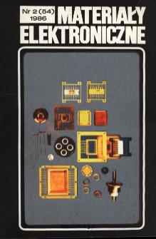 Spis treści 1986 nr 2(54) = Contents 1986 nr 2(54)