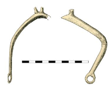 Spur, arch, originally with a goad and a ring, fragment, projection of both sides