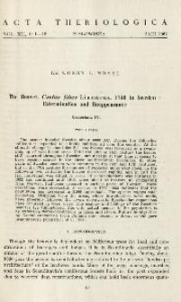 The beaver, Castor fiber Linnaeus, 1758 in Sweden extermination and reappearance