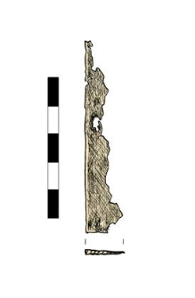 Knife, damaged, fragment