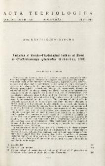 Variation of morpho-physiological indices of blood in Clethrionomys glareolus (Schreber, 1780)