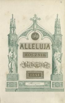 Alleluja : rocznik religijny 1841