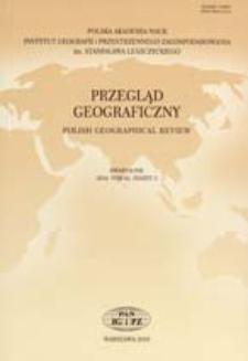 Przegląd Geograficzny T. 82 z. 2 (2010), Spis treści