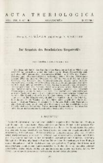 Zur Kenntnis des Rumänischen Karpatenbär