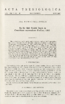 On the male genital tracts in Crocidura suaveolens (Pallas, 1811)