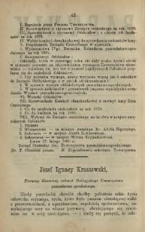 Józef Ignacy Kraszewski, Pierwszy Honorowy członek Galicyjskiego Towarzystwa pszczelniczo-ogrodniczego