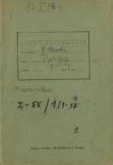 Zeszyty z badań gwarowych; Z55/1