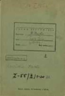 Zeszyty z badań gwarowych; Z55/2