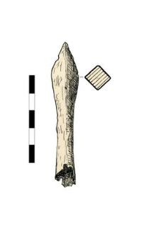 Bolthead with a sleeve, damaged