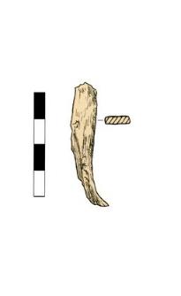 Artifact (nail?), fragment