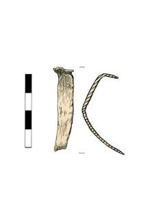 Sheet, small, bent, fragment