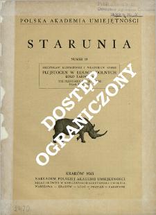 Plejstocen w Łękach Dolnych koło Tarnowa = The pleistocen in Łęki Dolne near Tarnów