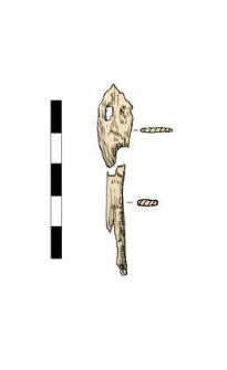 Przedmiot (grot?), fragmenty