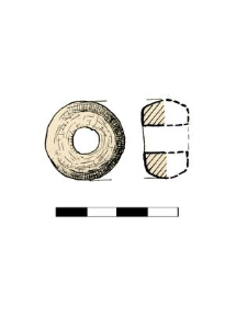 spindle whorl of Volhynian slate, fragment