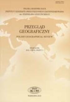 Przegląd Geograficzny T. 82 z. 3 (2010) Spis treści