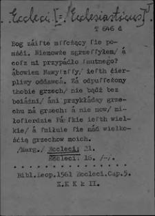 Kartoteka Słownika polszczyzny XVI w.; E n. os