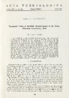 Taxonomic value of mandible measurements in the genus Plecotus Geoffroy, 1818
