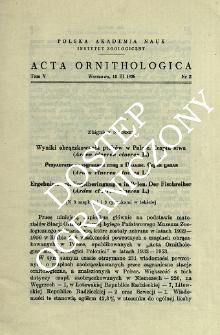 Wyniki obrączkowania ptaków w Polsce : czapla siwa (Ardea cinerea cinerea L.)