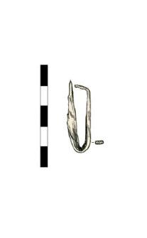 Artifact, bent, fragment