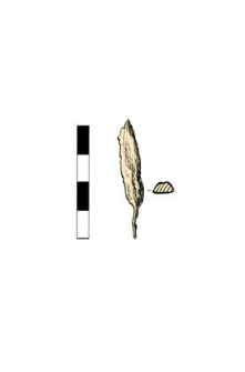 Arrowhead (?) with a tang, corroded