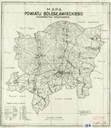 Mapa powiatu bolesławieckiego, województwo wrocławskie : podziałka 1:100 000