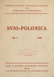 Svio-Polonica 1939 N.1