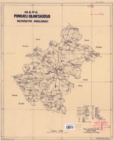 Mapa powiatu oławskiego : województwo wrocławskie : podziałka 1:100 000