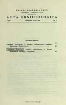 O pracach zoologicznych profesora Kazimierza Miczyńskiego