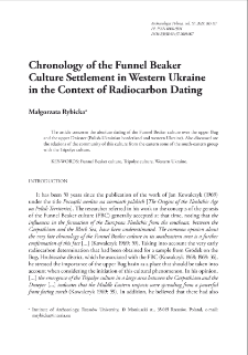 Chronology of the Funnel Beaker Culture Settlement in Western Ukraine in the Context of Radiocarbon Dating