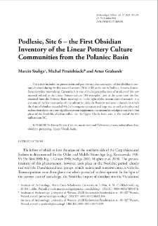 Podlesie, Site 6 – the First Obsidian Inventory of the Linear Pottery Culture Communities from the Połaniec Basin