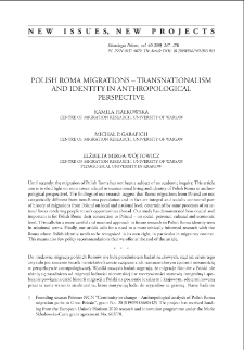 Polish Roma Migrations – Transnationalism and Identity in Anthropological Perspective