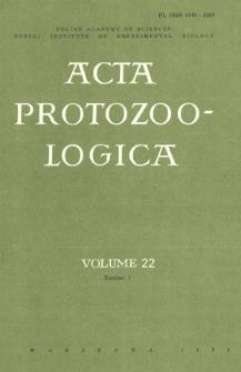 Acta Protozoologica, Vol. 22, Nr 1